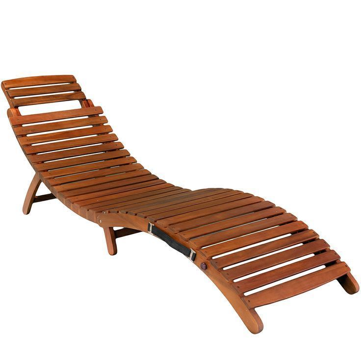Attractive Outdoor Chaise Lounge Poolside Chairs Sun Chair Tanning Lounger Acacia Wood  Fold #PatioPoolFurniture #poolside