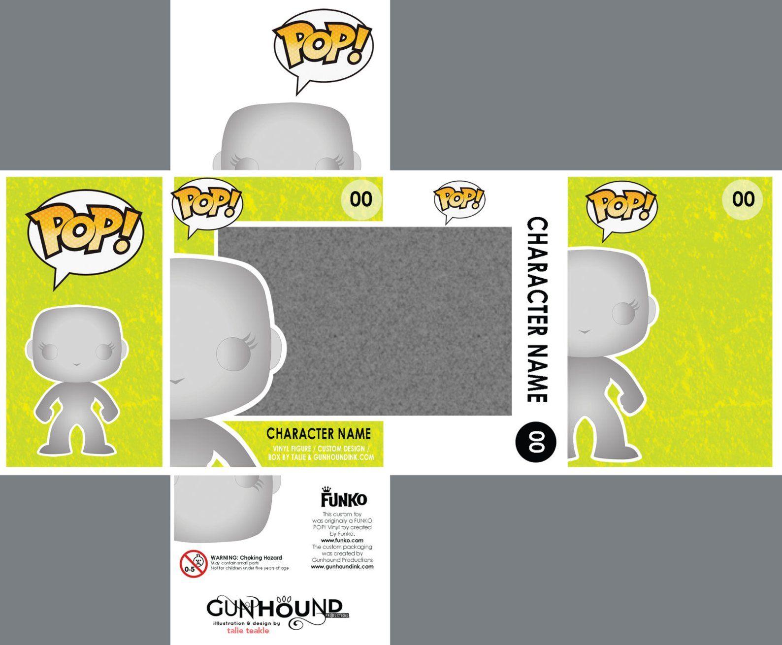 Photoshop Files For Custom Funko Pop Vinyl Toy Packaging Etsy Envases De Juguetes Juguetes De Vinilo Plantilla De Caja Imprimible