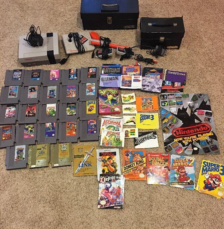 original nintendo classic system nes bundle lot nes games