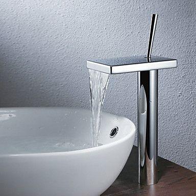 Contemporary Countertop Waterfall Bathroom Sink Faucet Usd