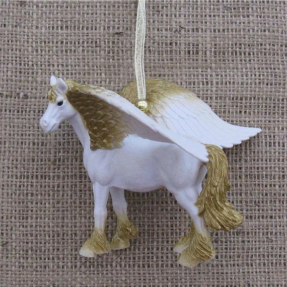 Pegasus Christmas ornament, kitsch decoration by TheBlueSignShop