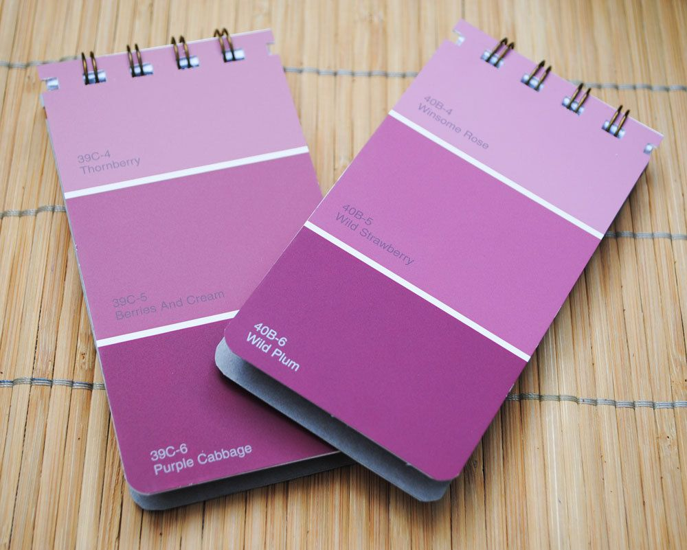 Shades Of Purple Paint all shade of purple | shades of purple paint chip notepads