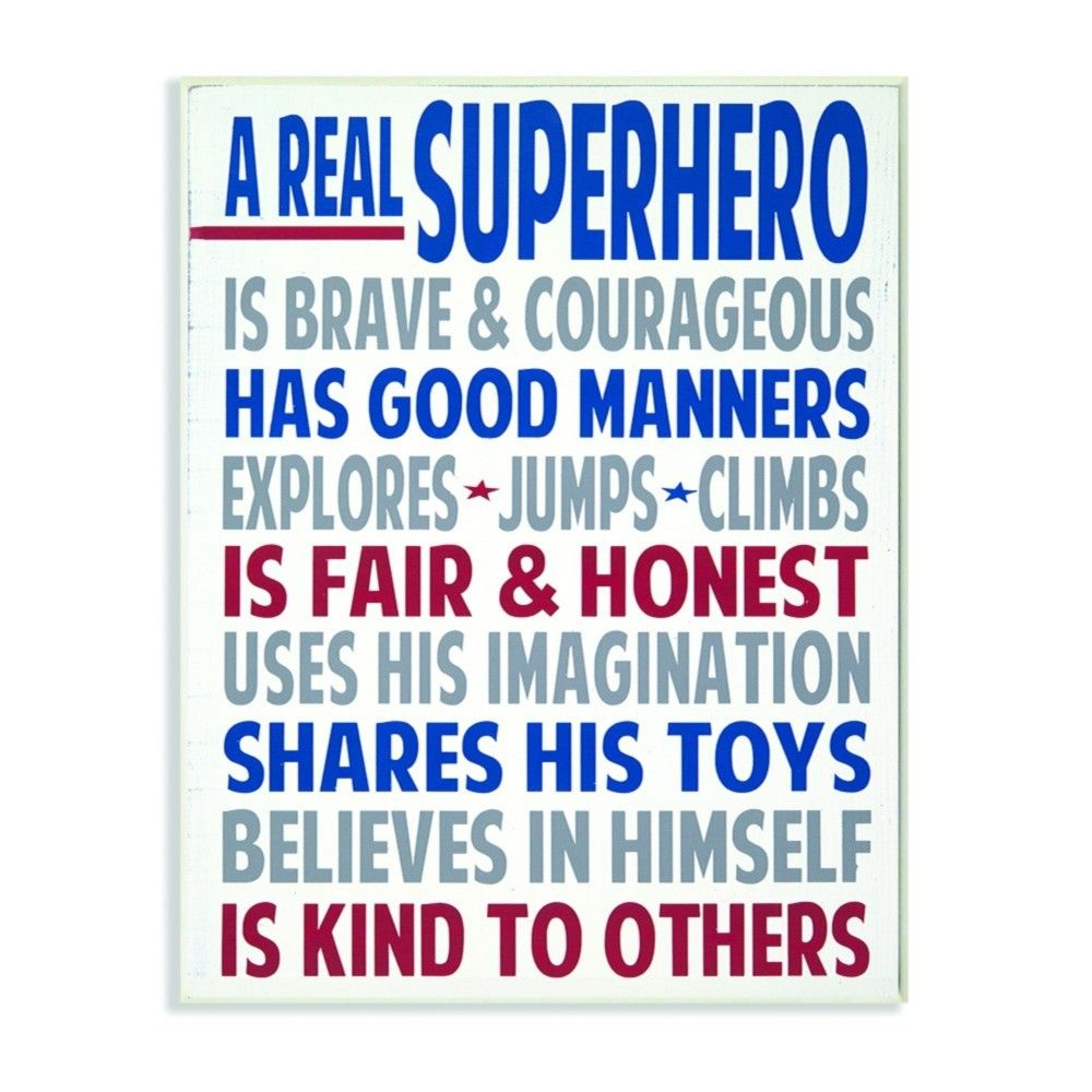 Typography Art Wall Plaque A Real Superhero Wall Plaque Art 10 X15 X0 5 Stupell Industries Superhero Wall Decor Superhero Wall Art Wall Kids