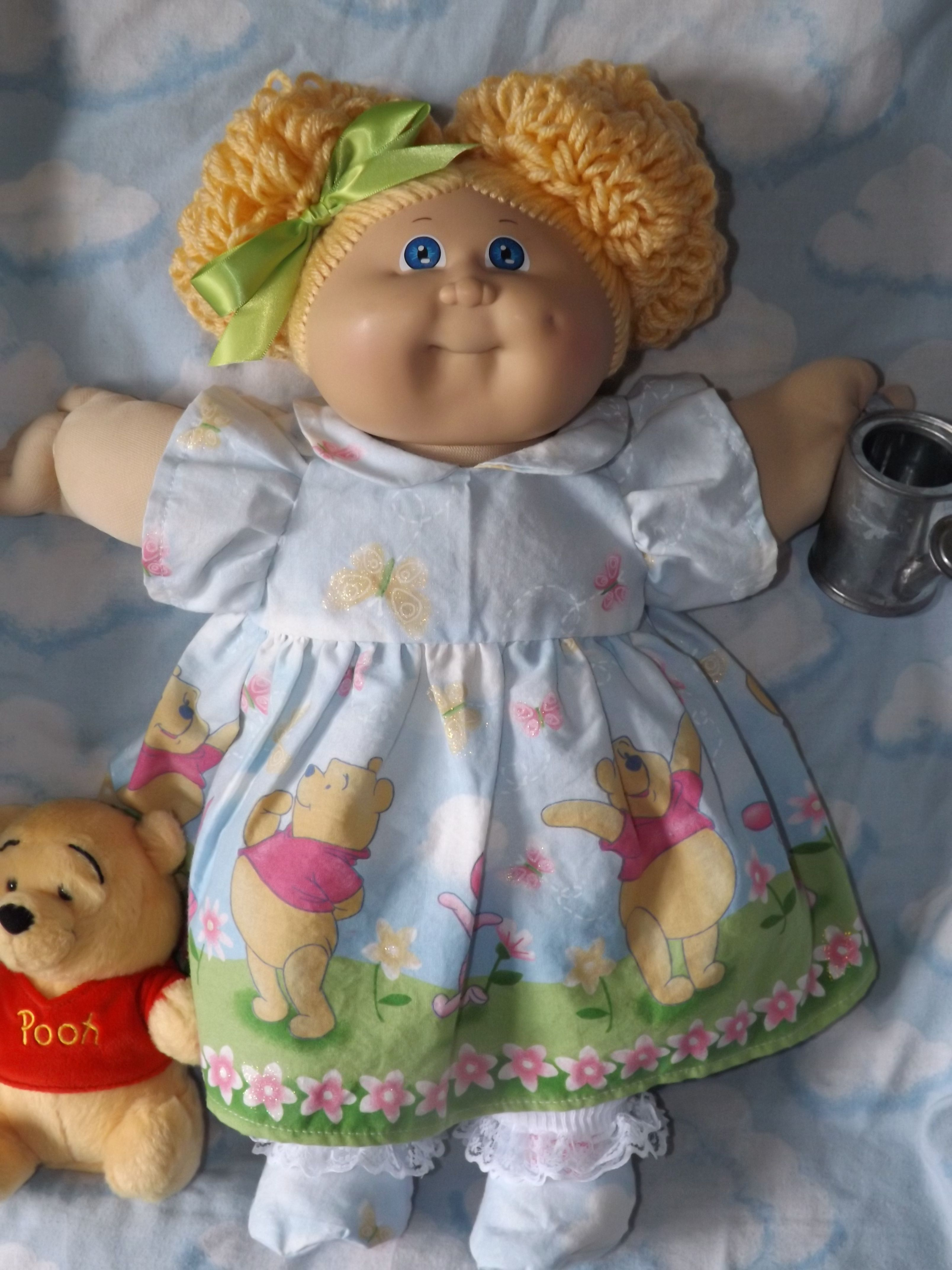 Cabbage Patch Kids Reroot 3 Double Popcorn Bun She Loves Spring And Winnie The Pooh Made B Cabbage Patch Babies Cabbage Patch Kids Dolls Cabbage Patch Dolls