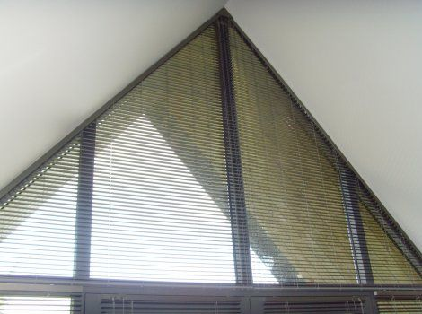 Shaped Blinds With Remote Control Blinds For Windows