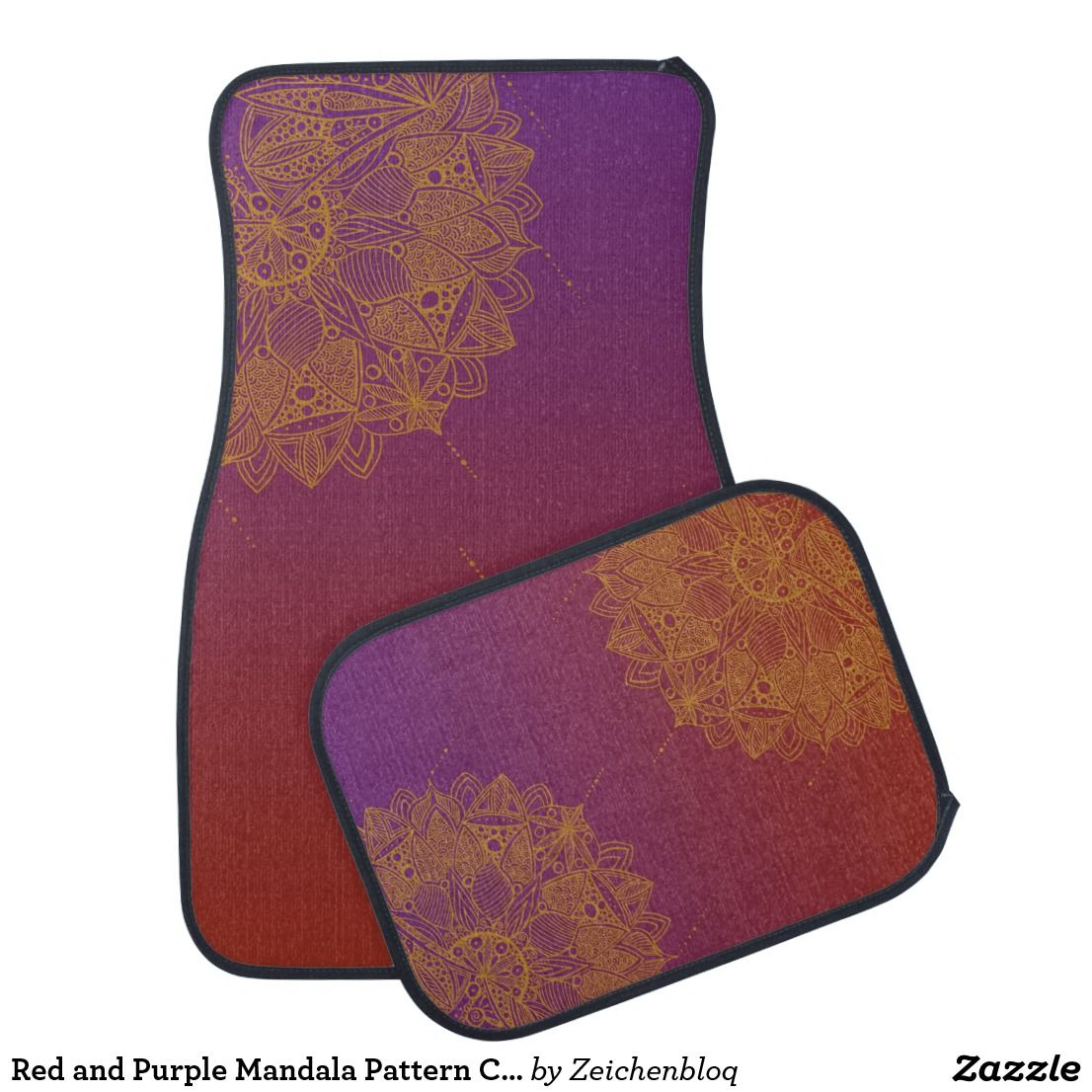 Red And Purple Mandala Pattern Car Floor Mats Zazzle Com Mandala Pattern Mandala Design Pattern Car Floor Mats