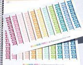 Horizontal Pendant Weekend Banner Planner Sticker for Erin Condren Life Planner (ECLP) Reminder Sticker 1729
