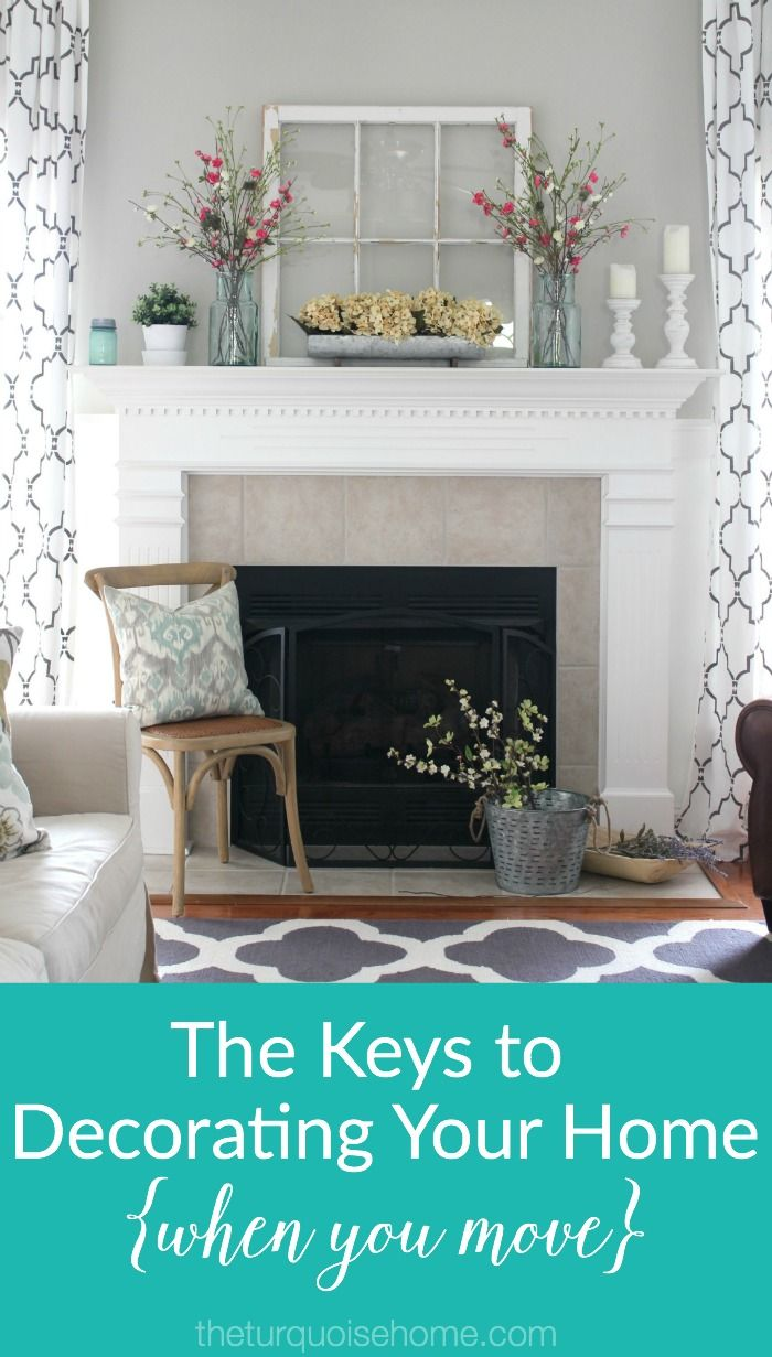the keys to decorating your home when you move moving tips rh pinterest com