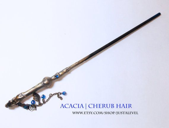 Gold Twilight Harry Potter Inspired Wand Acacia  by JustALevel
