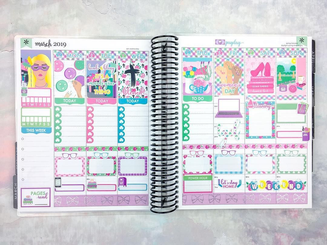 Spring Collection March Monthly Planner Kit PAPER & GLAM