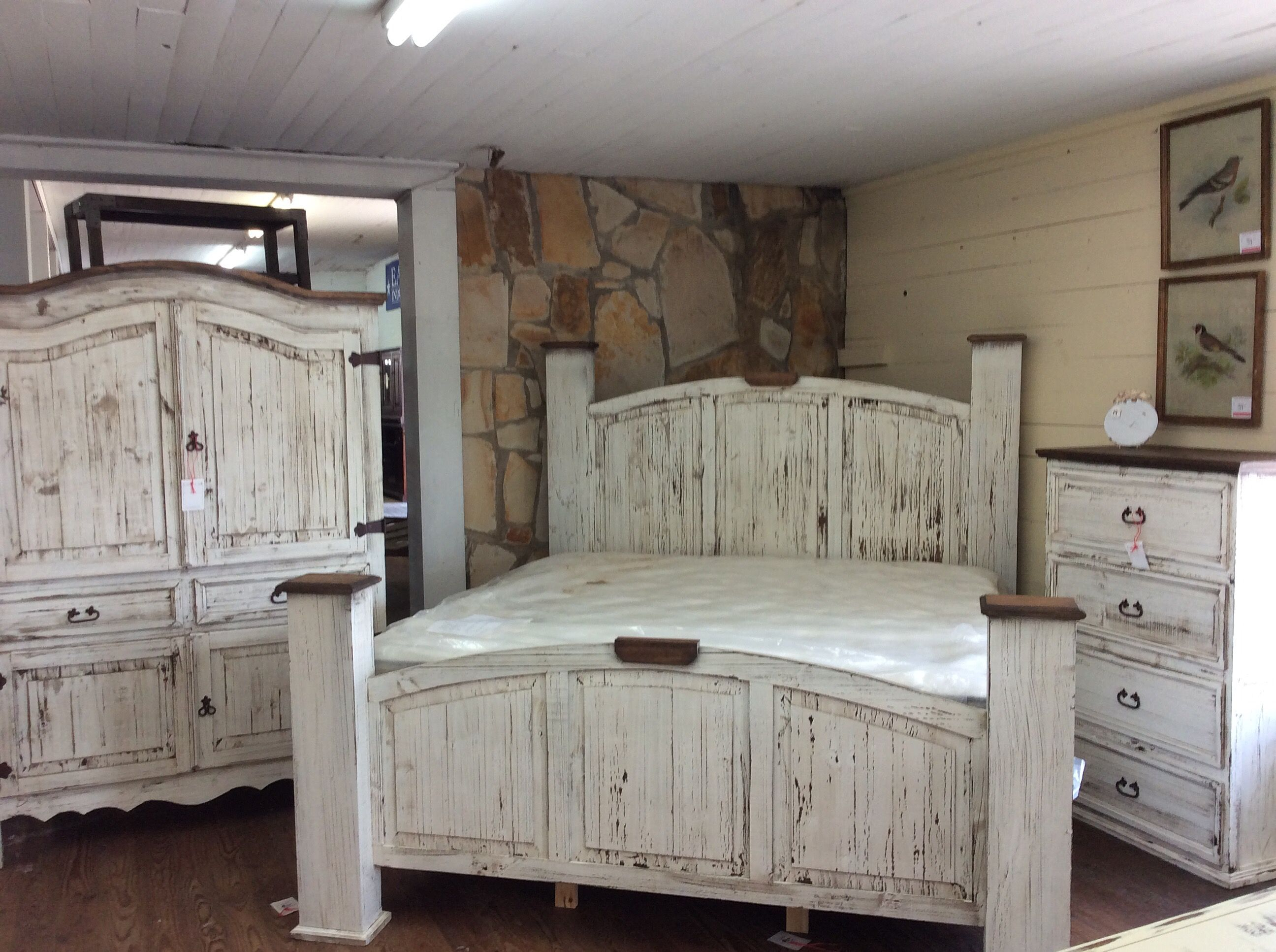 Texas Rustic Of Louisianas Antique White Bedroom Group
