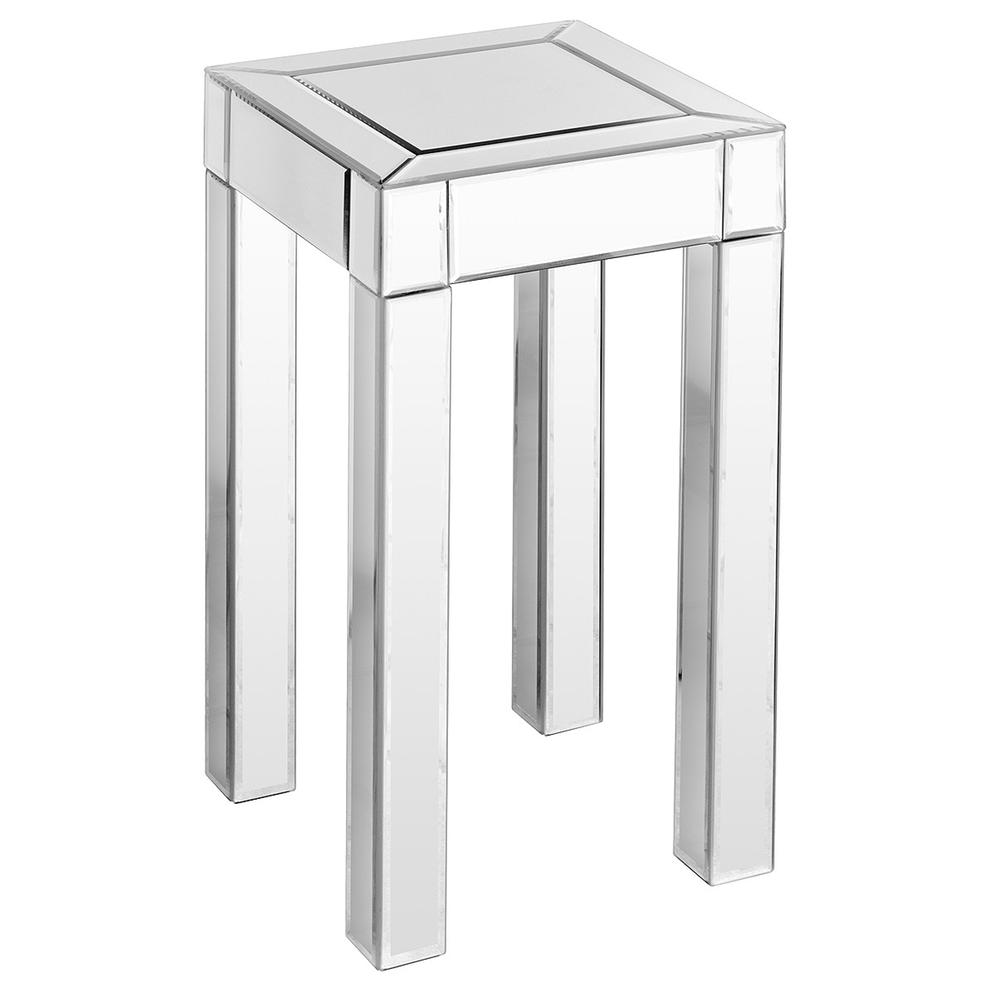 fabulous mirrored furniture. Evelina Small Mirrored Pedestal Table Fabulous Furniture From Www.serendipityhomeinteriors.com T