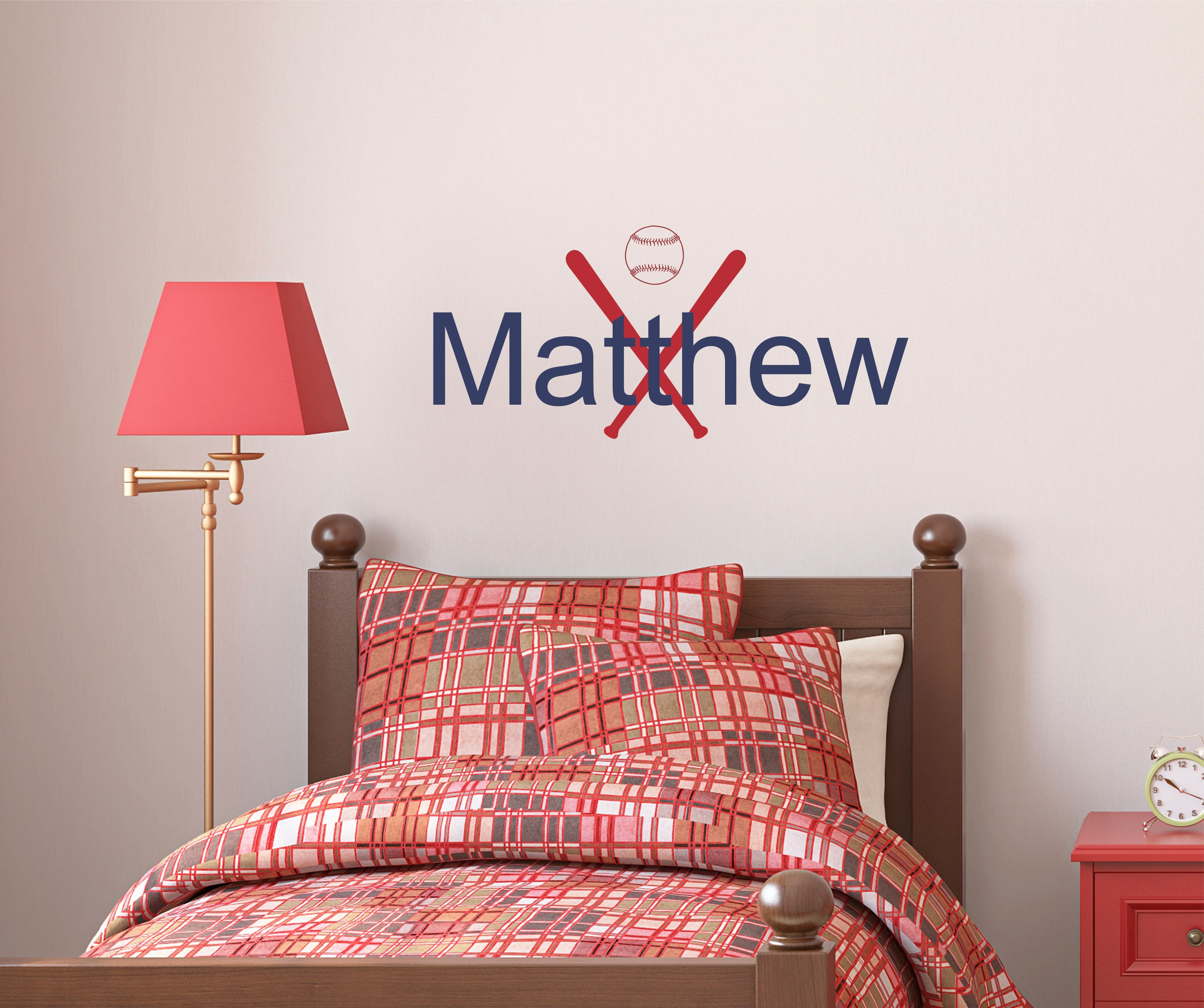 Personalized Baseball Wall Decal Available At My Etsy Shop:  Https://www.etsy.com/listing/251478779/baseball Personalized Name Wall Decal?refu003d  ...