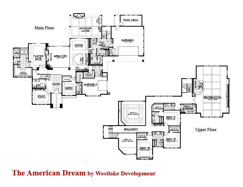Street Of Dreams Dream Floors Floor Plans American Dream
