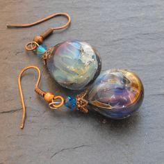 Bcl.2378 belles boucles d'oreille perles murano faites main