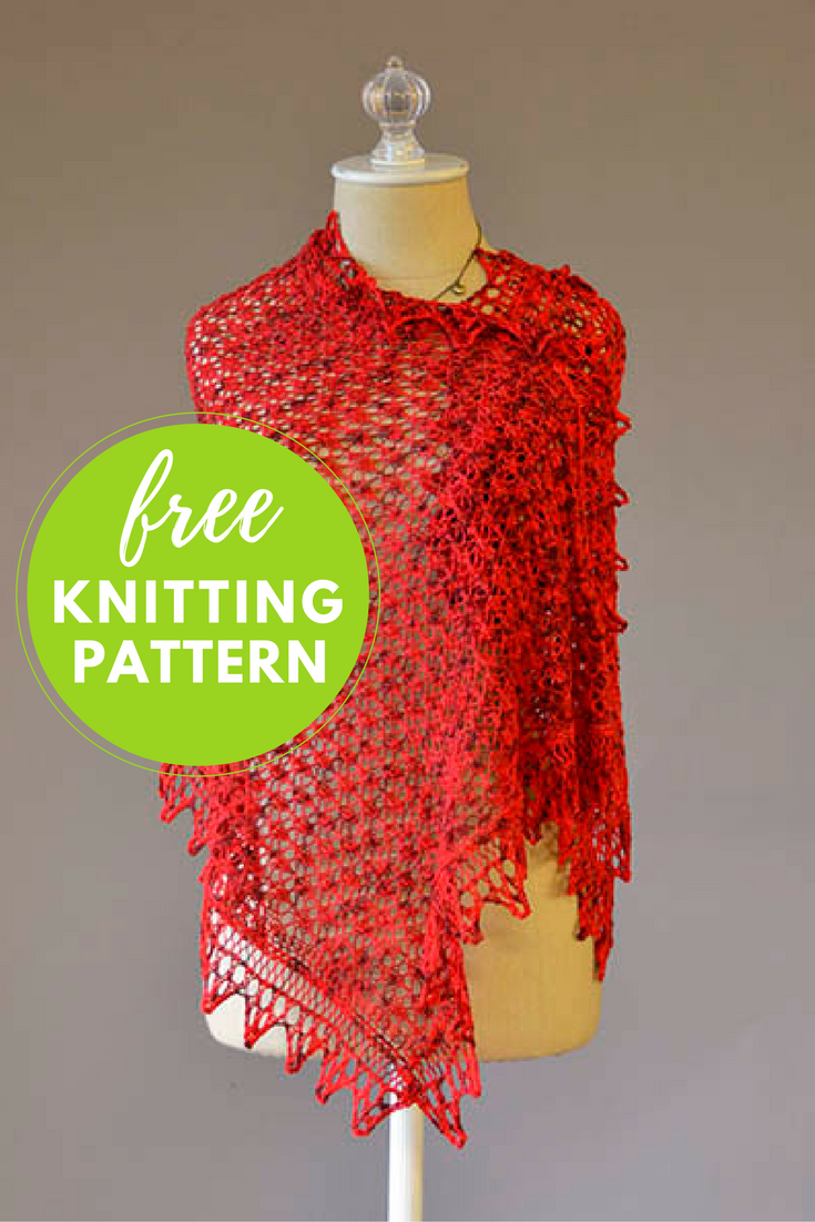 I Heart You Shawl Free Knitting Pattern Things To Make Pinterest