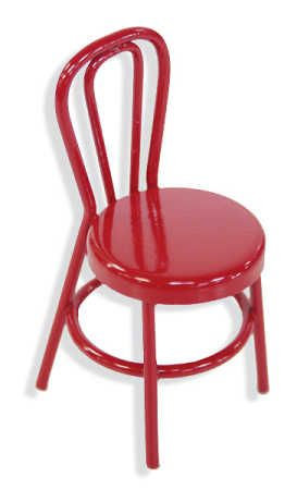 Photo of Miniature Red Retro Cafe Chair – Dining Room Miniatures – Dollhouse Miniatures – Doll Supplies – Craft Supplies