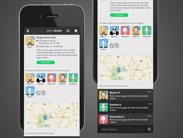 PlayMaker App /Creative Director Mobile website design