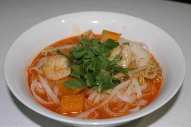 Home cooking: Pumpkin and Prawn Laksa