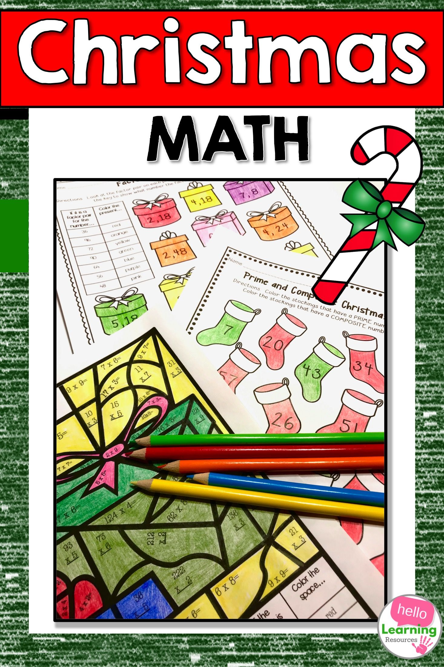 Christmas Math Worksheets With Images