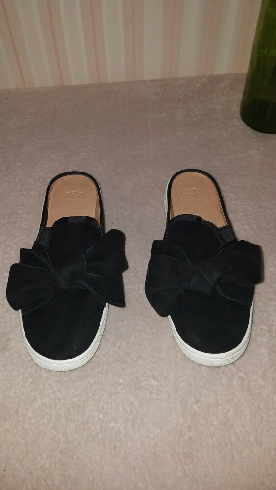 8a692aee768 UGG Luci Bow black Suede Slip On Slide Sneakers Women's Size 8 ...