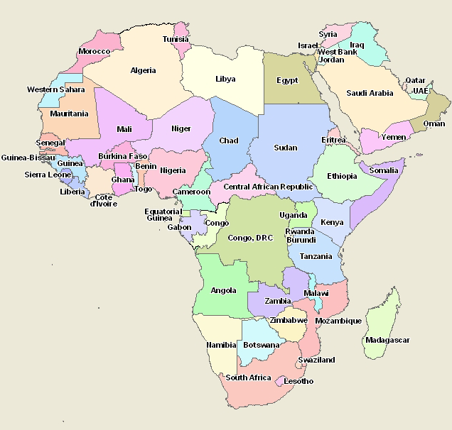 African Africa Countries Map Learn more about Africa at: www ...