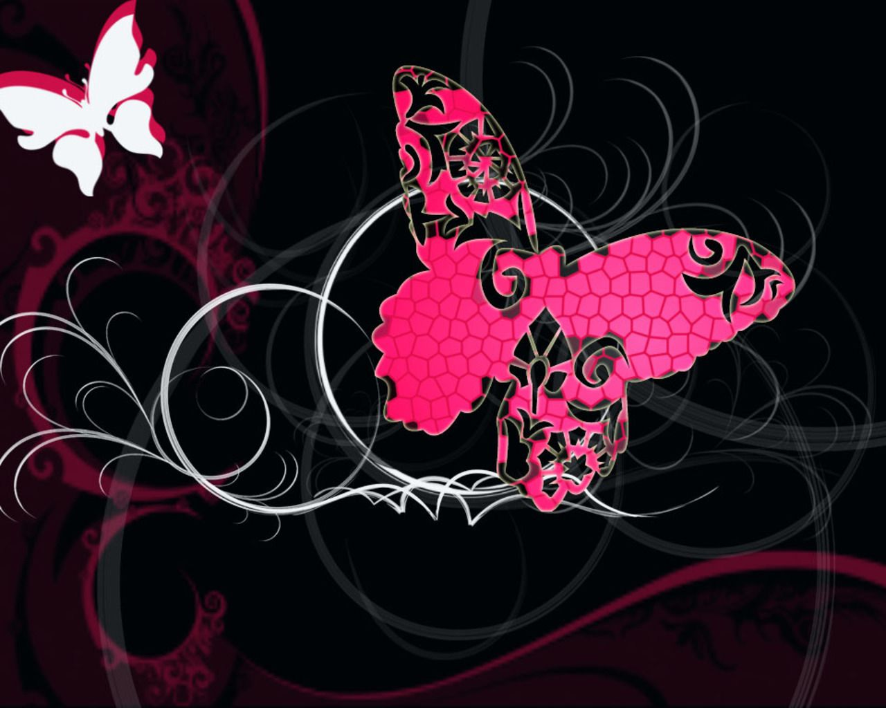 3d Butterfly Wallpaper Desktop Desktop Wallpapers 3d Animated Wallpaper Wallery Desktop Slid Pink And Black Wallpaper Butterfly Art Butterfly Wallpaper