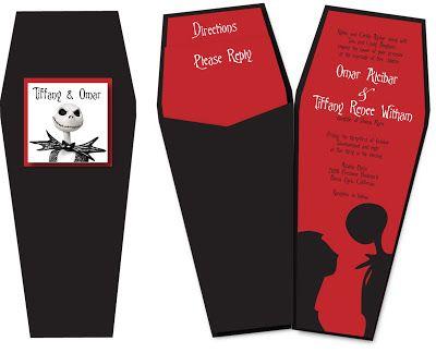 Nightmare Before Christmas Wedding Invite Paper Crew How To Make