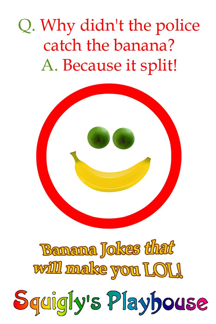 Banana Jokes for Kids Funny jokes for kids, Jokes for