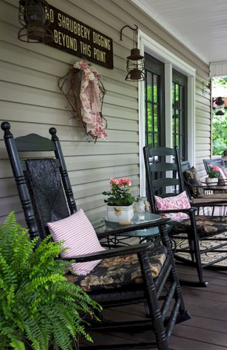 Farmhouse Front Porch Decor Ideas 46