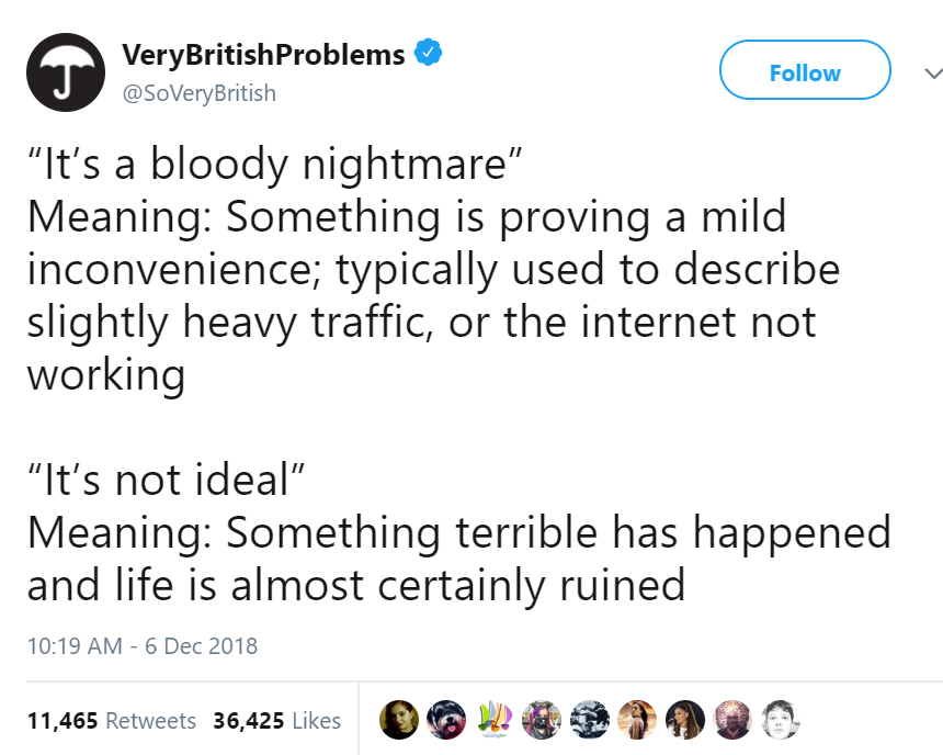 Here Are 15 Tweets By British People That Cracked Us Up This Week (December 14 , 2018)