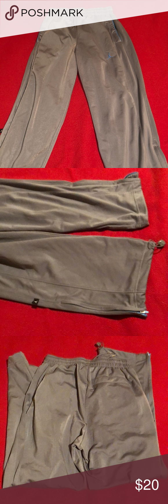 be5a37eb319596 Jordan Dri-Fit Pants - Size Large Used Jordan Dri-Fit pants. Cool gray   Carolina  blue. Jordan Pants Sweatpants   Joggers