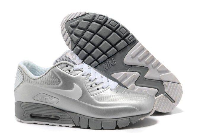 zapatillas nike de mujer blancas y plata