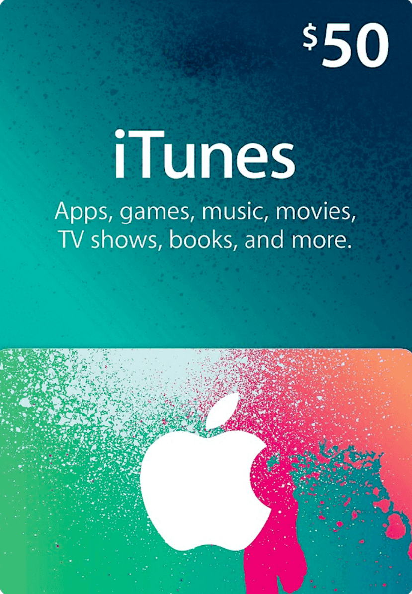 50 Us Itunes Gift Card For Apple Music Apps Movies And More