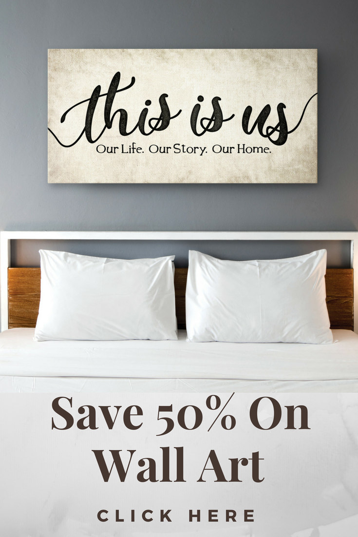 This is us wooden frame ready to hang home family bedroom wall