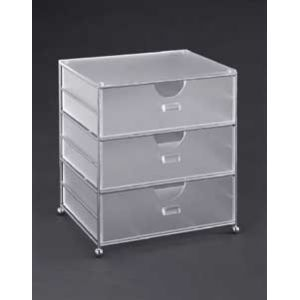 Acrylic 3 Bin Basket As part of a stylish line of storage baskets, the acrylic three bin...