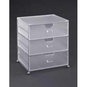 Acrylic 3 Bin Basket As part of a stylish line of storage baskets, the acrylic three bin...