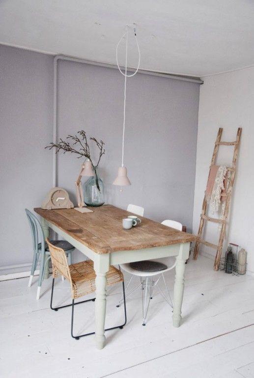 5 id es pour repeindre une table r cup mobilier de. Black Bedroom Furniture Sets. Home Design Ideas