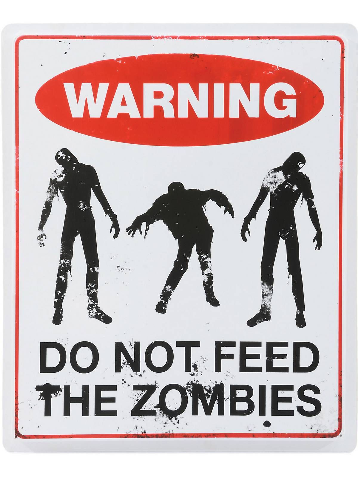 dont feed the zombies sign zombie props and decorations at frightcatalog com - Fright Catalog Halloween Decorations