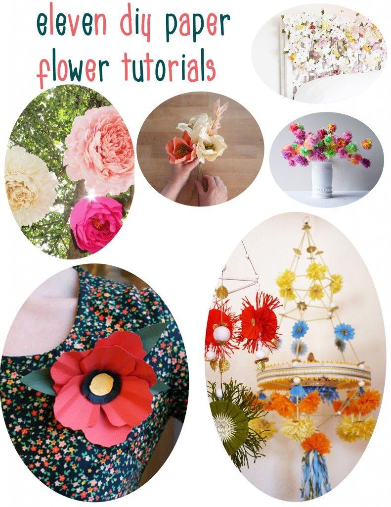 11 Diy Paper Flower Tutorials Pinterest Paper Flower Tutorial