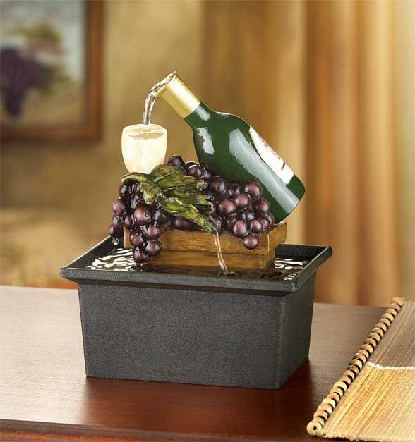 Winery Water Fountain Grape Kitchen Decor Grape Decor Wine Decor