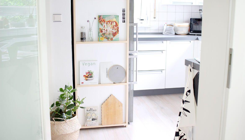 Do it yourself: Regal für die Küche aus Holz und Klebefolie | Holz ...