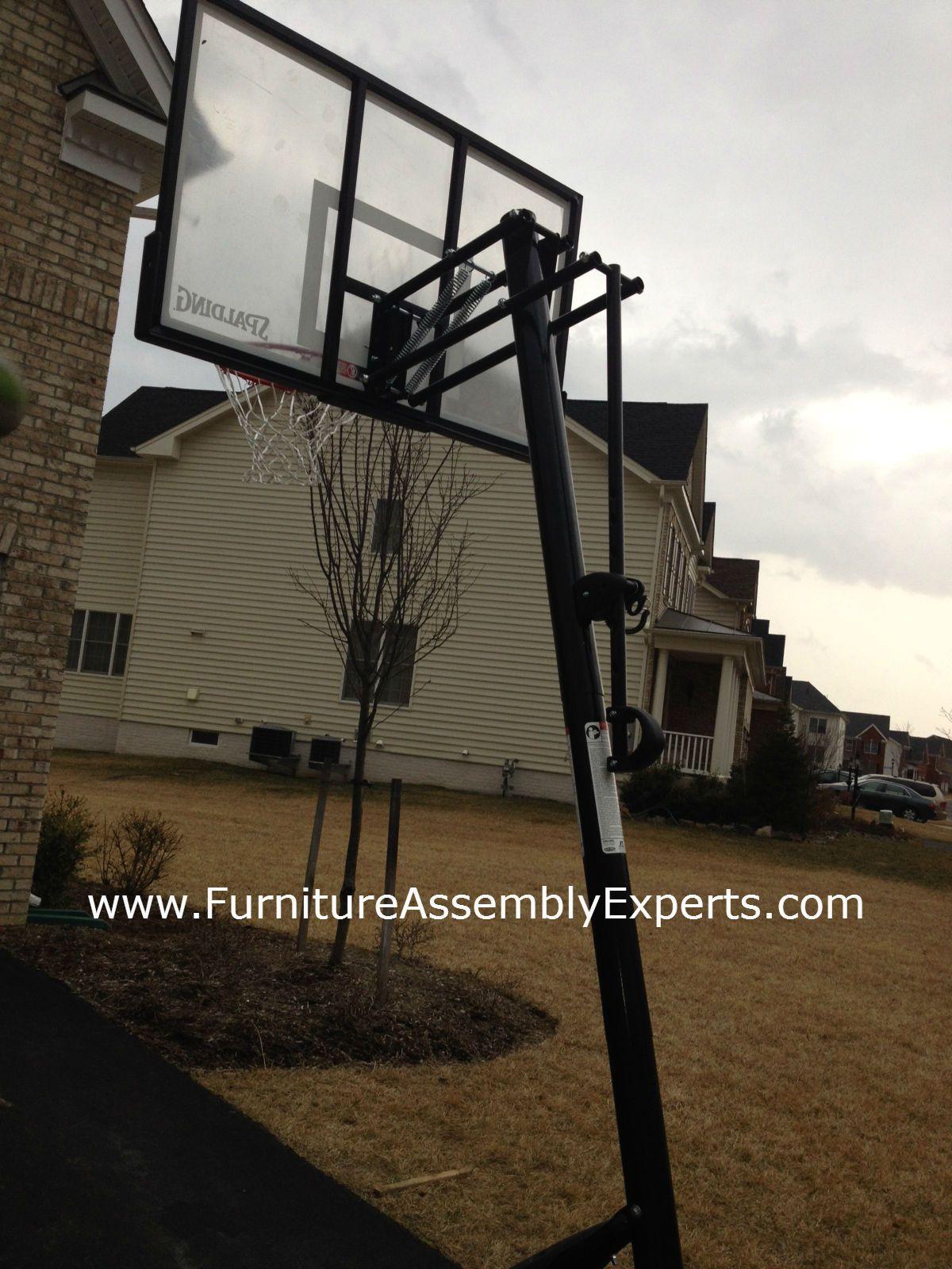 lifetime portable basketball hoop assembled in leesburg va by