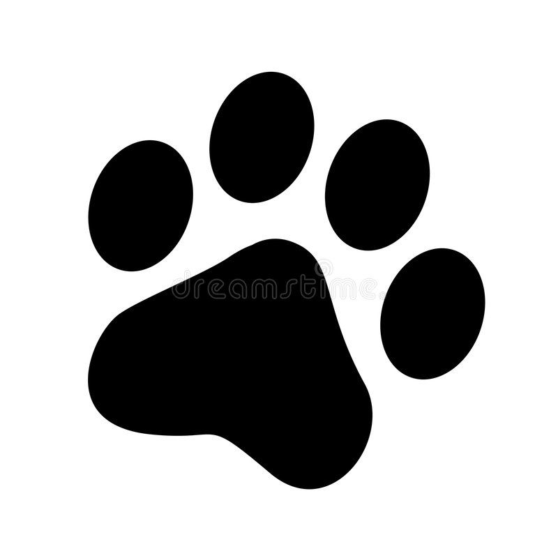 Paw Print Vector Illustration Paw Print Background Paw Painting Cat Paw Print