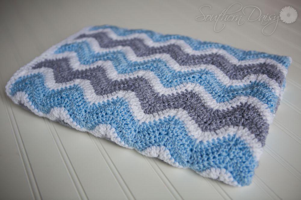 Chevron Baby Blanket, Free Pattern | southerndaisy.com | Crochet ...
