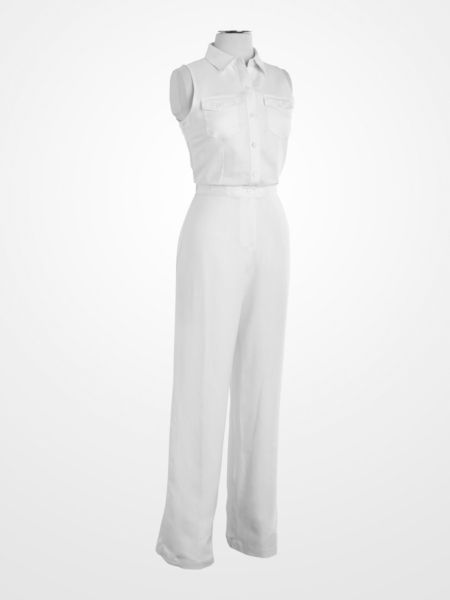 White Linen #Jumpsuit #WhiteParty | White Summer | Pinterest ...