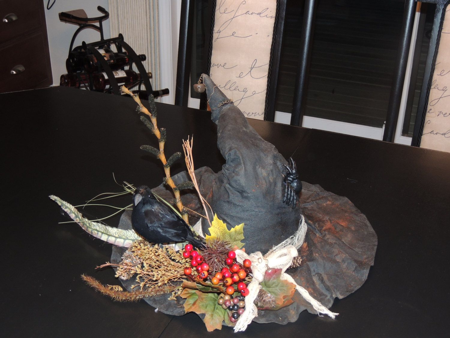 Large Primitiive Witches Hat Center Piece by MemaneseMakins on Etsy