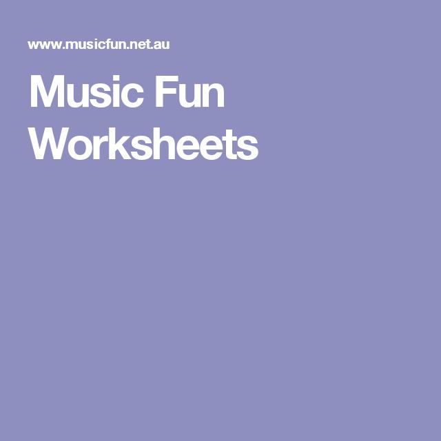 Music Fun Worksheets Homeschool Pinterest Fun Worksheets