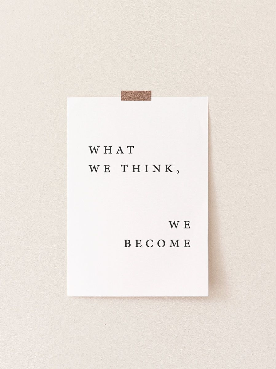 Quote Print Quote Poster Quote Wall Art What we think We   Etsy