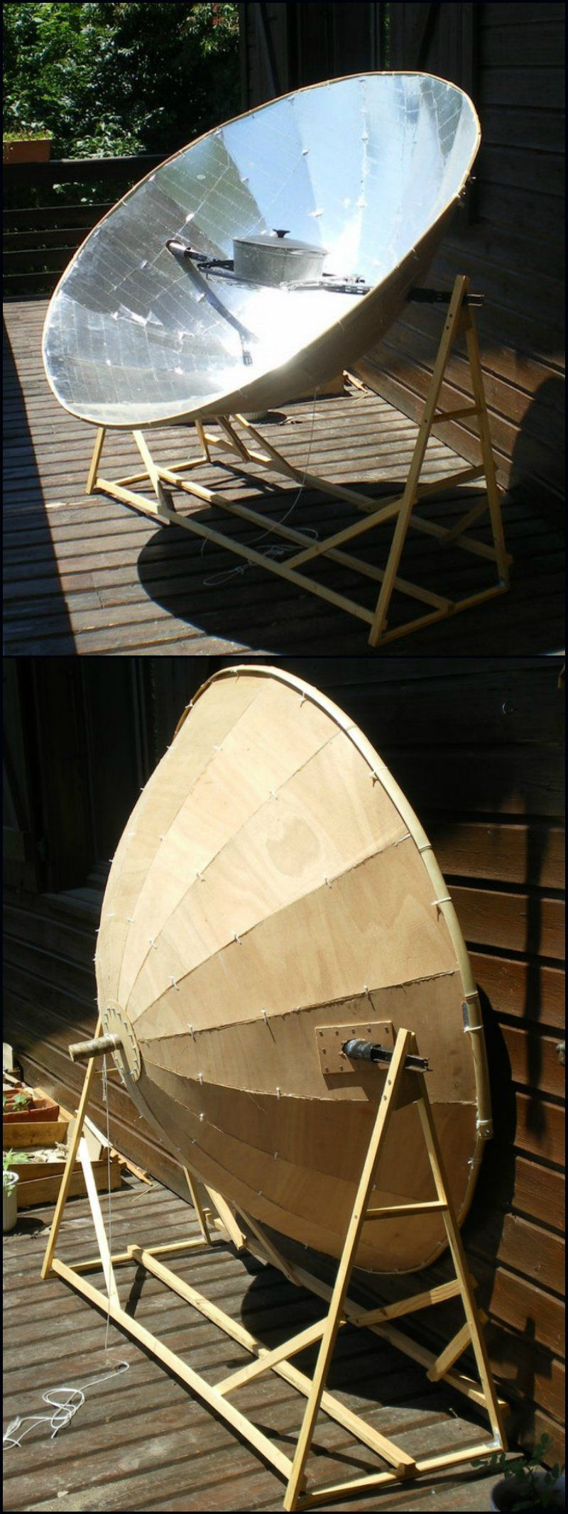 How to build a parabolic solar oven http